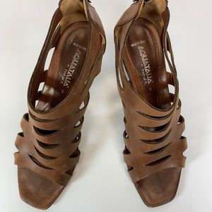 Vintage Aquatalia Marvin K leather heels